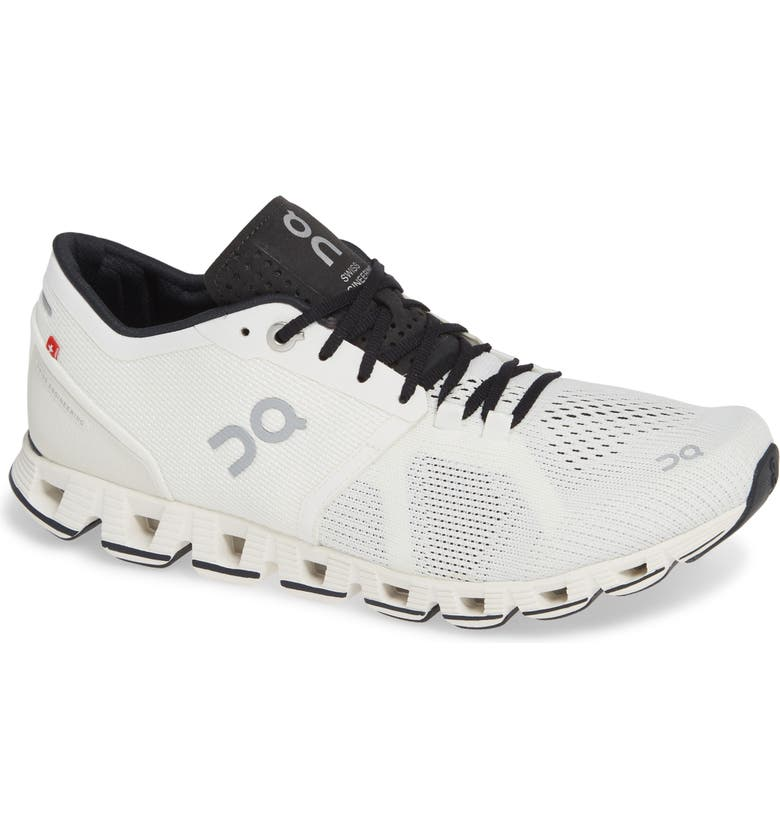 ON Cloud X Running Shoe, Main, color, WHITE/ BLACK