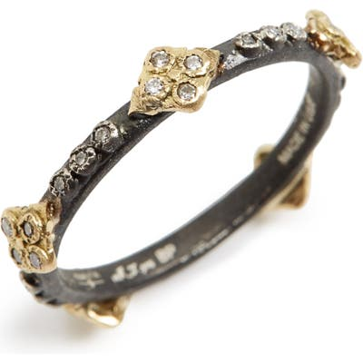 Armenta Old World Crivelli Diamond Stack Ring