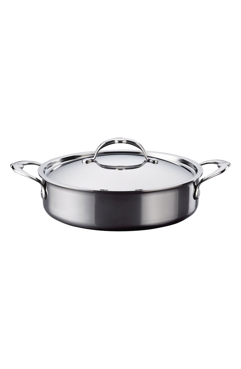 HESTAN 3.5-Quart Sauteuse with Lid, Main, color, STAINLESS STEEL
