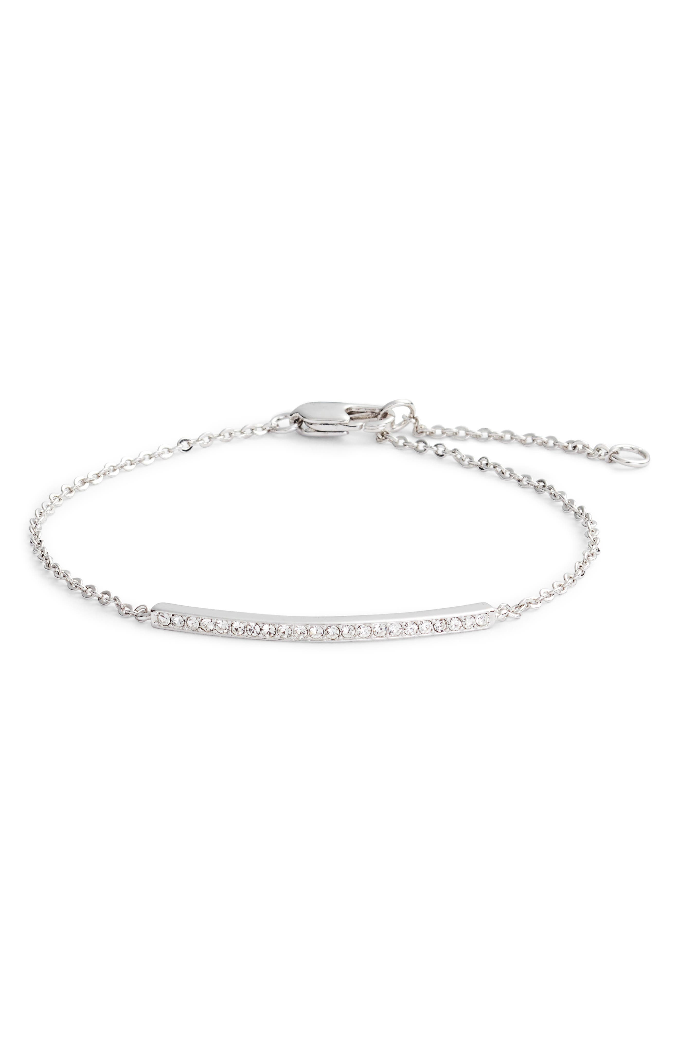 A linear setting is alight with sparkle on a simply gleaming bracelet. Style Name: Nordstrom Pave Bar Bracelet. Style Number: 5571012. Available in stores.