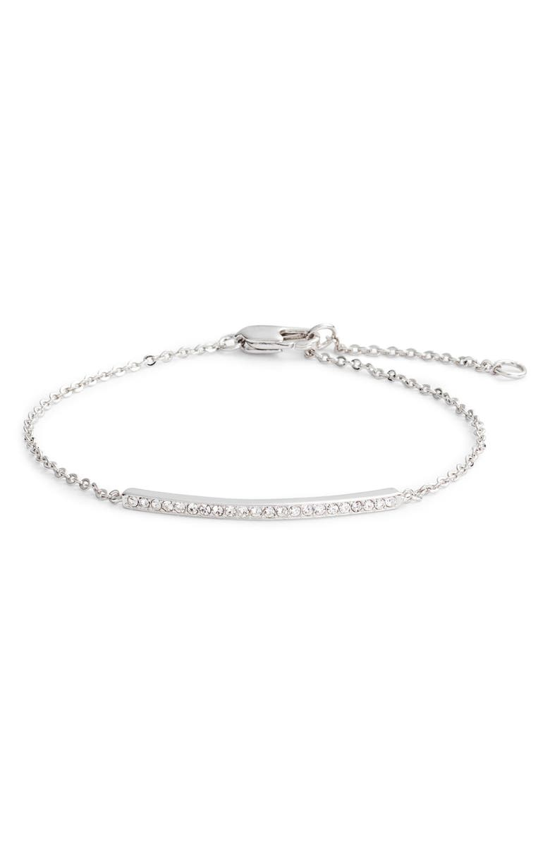 NORDSTROM Pavé Bar Bracelet, Main, color, CLEAR- SILVER