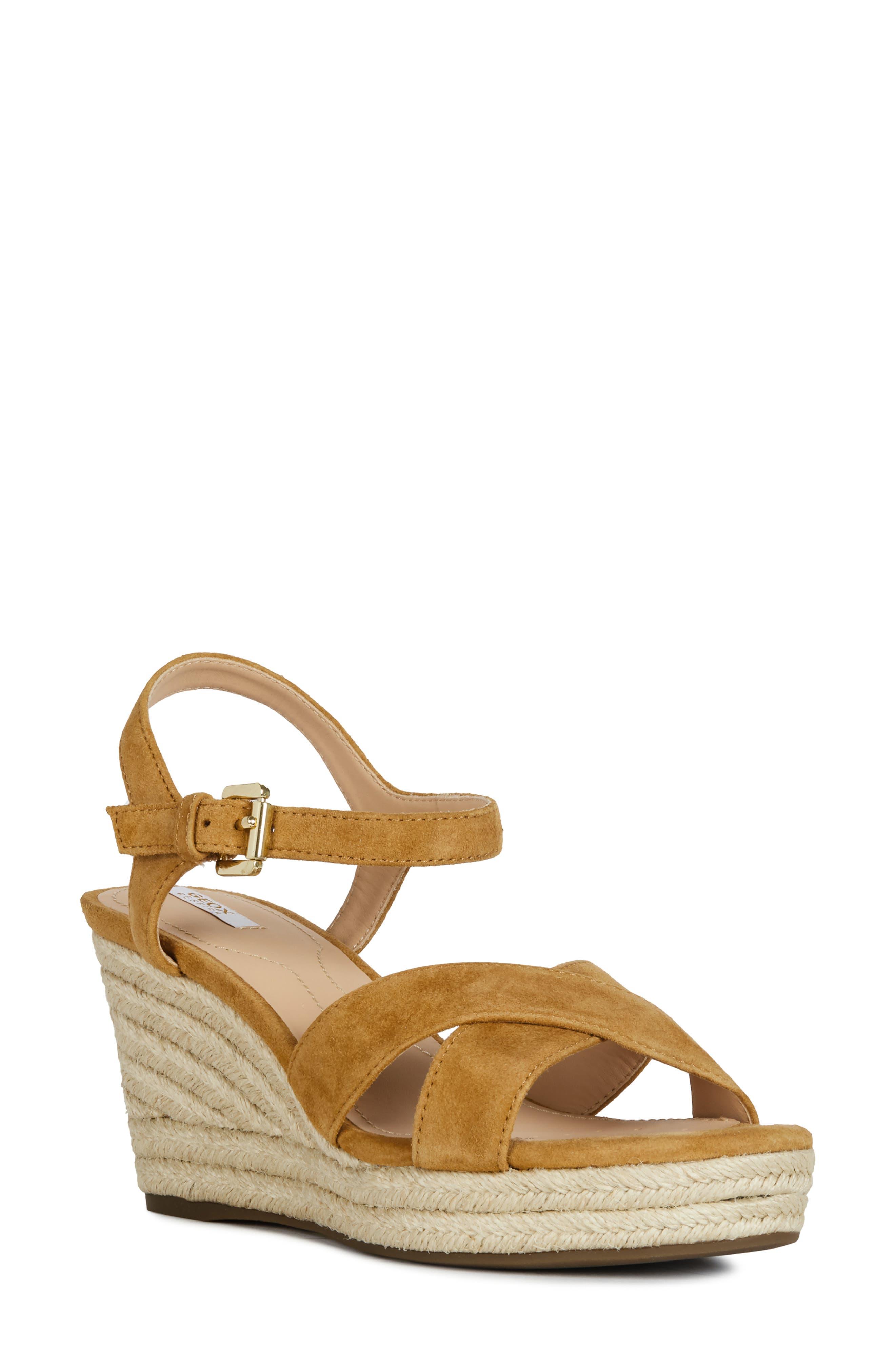 Geox Soleil Wedge Sandal, Yellow