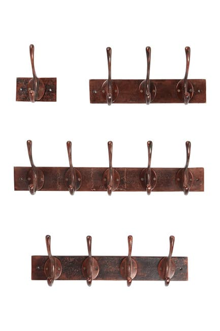 Image of Willow Row Copper Metal Wall Hooks - Set of 4