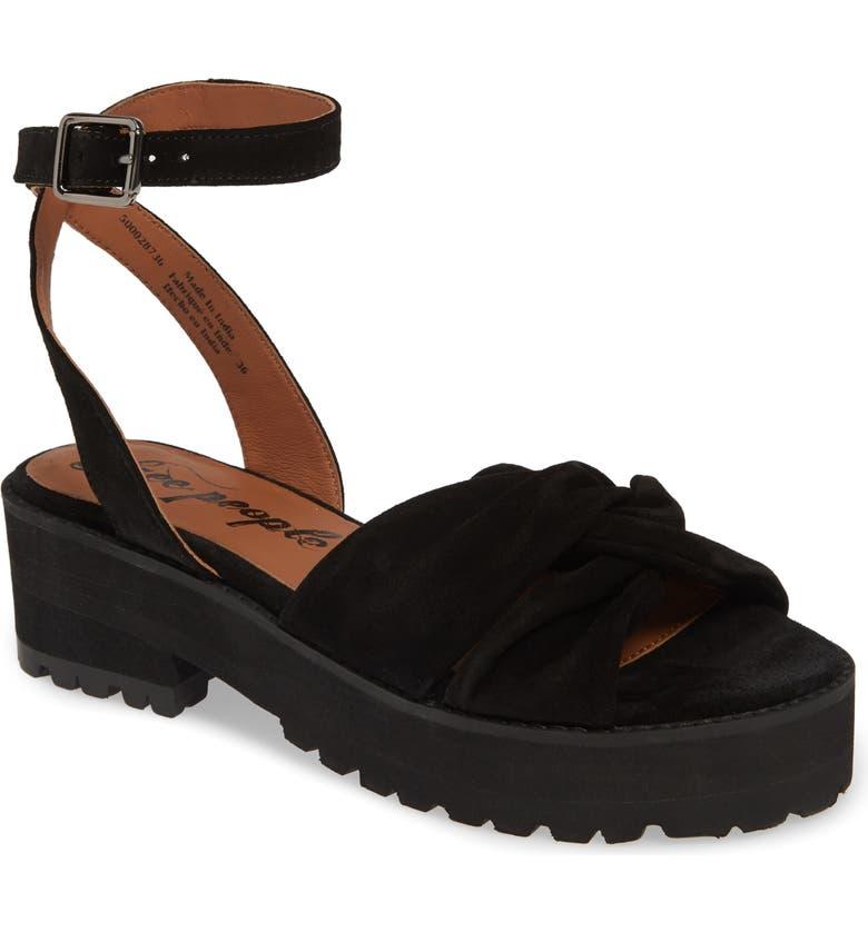 FREE PEOPLE Essex Sandal, Main, color, BLACK