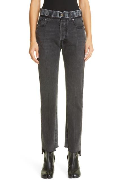 Image of MAISON MARTIN MARGIELA Straight Leg Step Hem Jeans