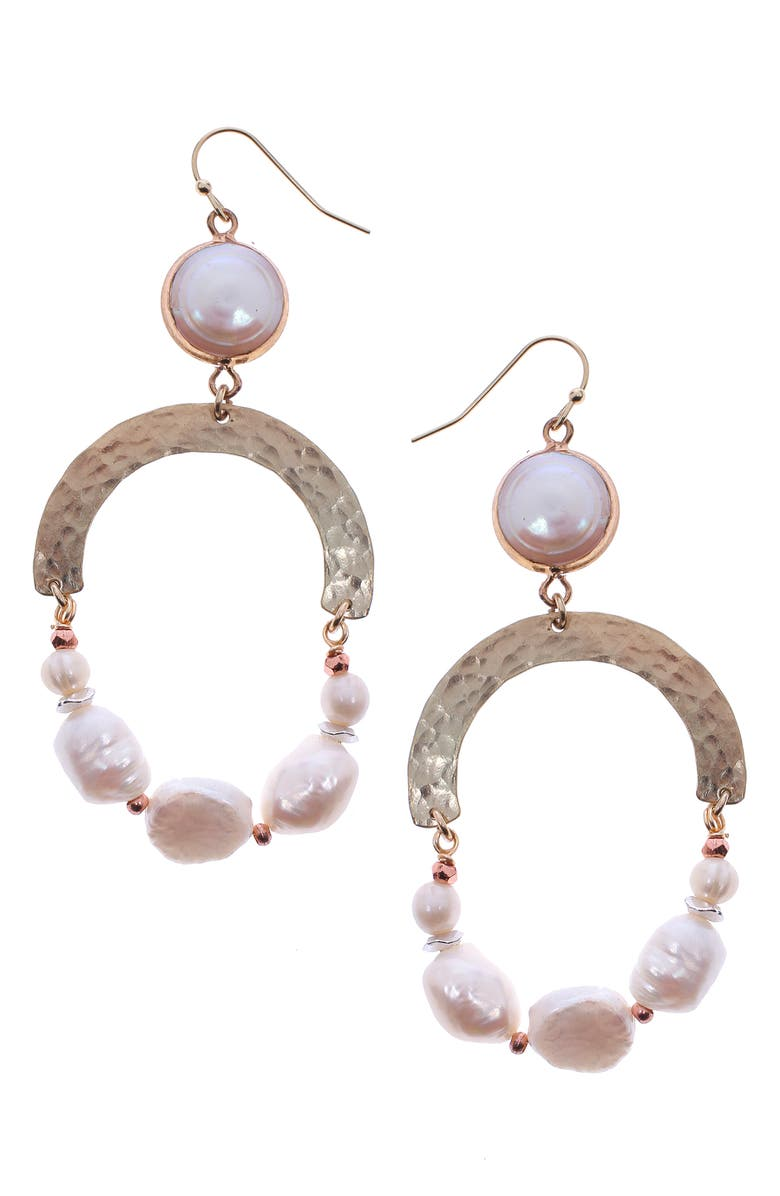Nakamol Design Freshwater Pearl Hoop Earrings