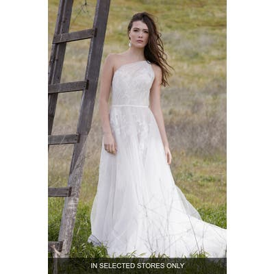 Willowby Emeline One Shoulder A-Line Wedding Dress