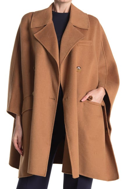 Image of BCBGMAXAZRIA Double Breasted Wool Cape
