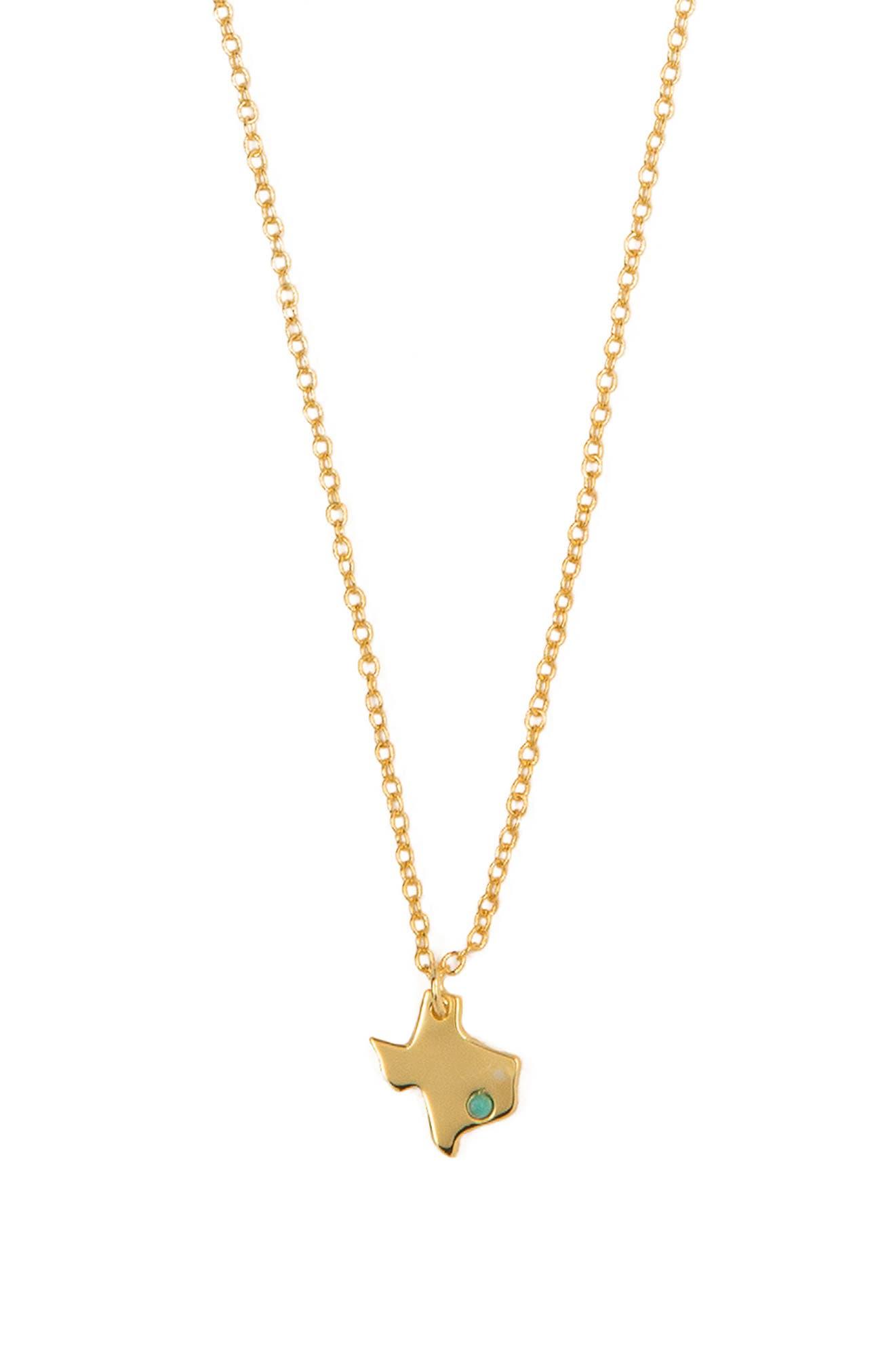 Texas Strong Pendant Necklace