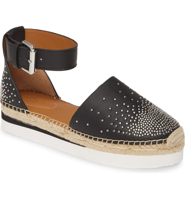 SEE BY CHLOÉ Glyn Espadrille Flat, Main, color, BLACK