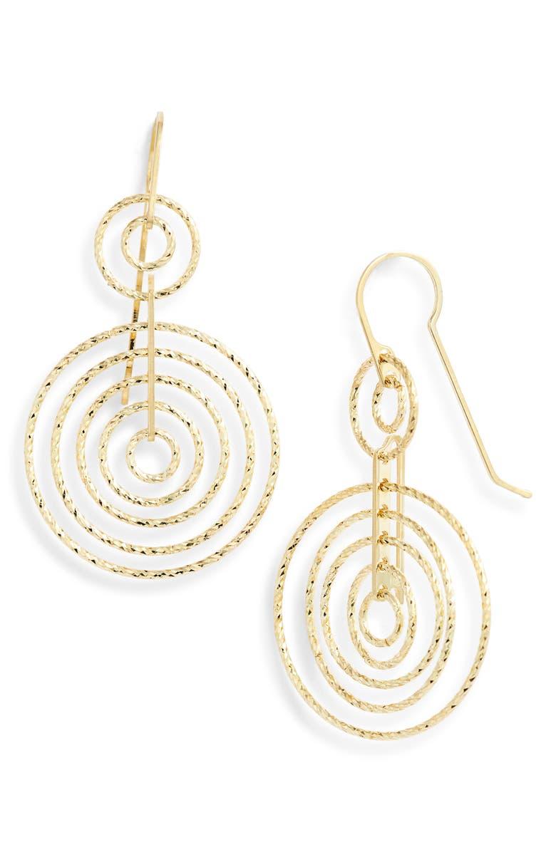 KAREN LONDON Enchanted Statement Earrings, Main, color, GOLD