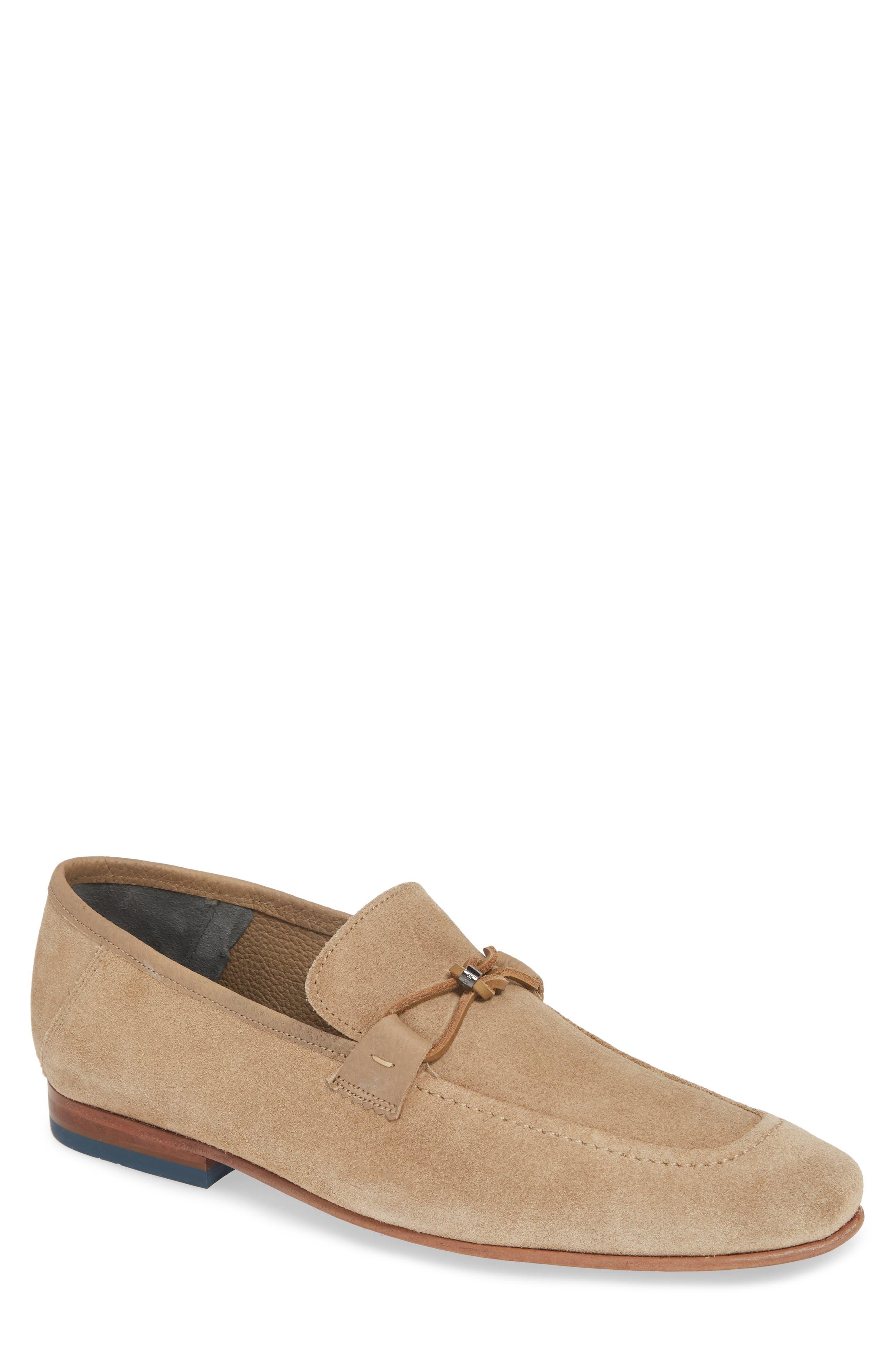 Siblac Bit Loafer, Main, color, LIGHT TAN SUEDE