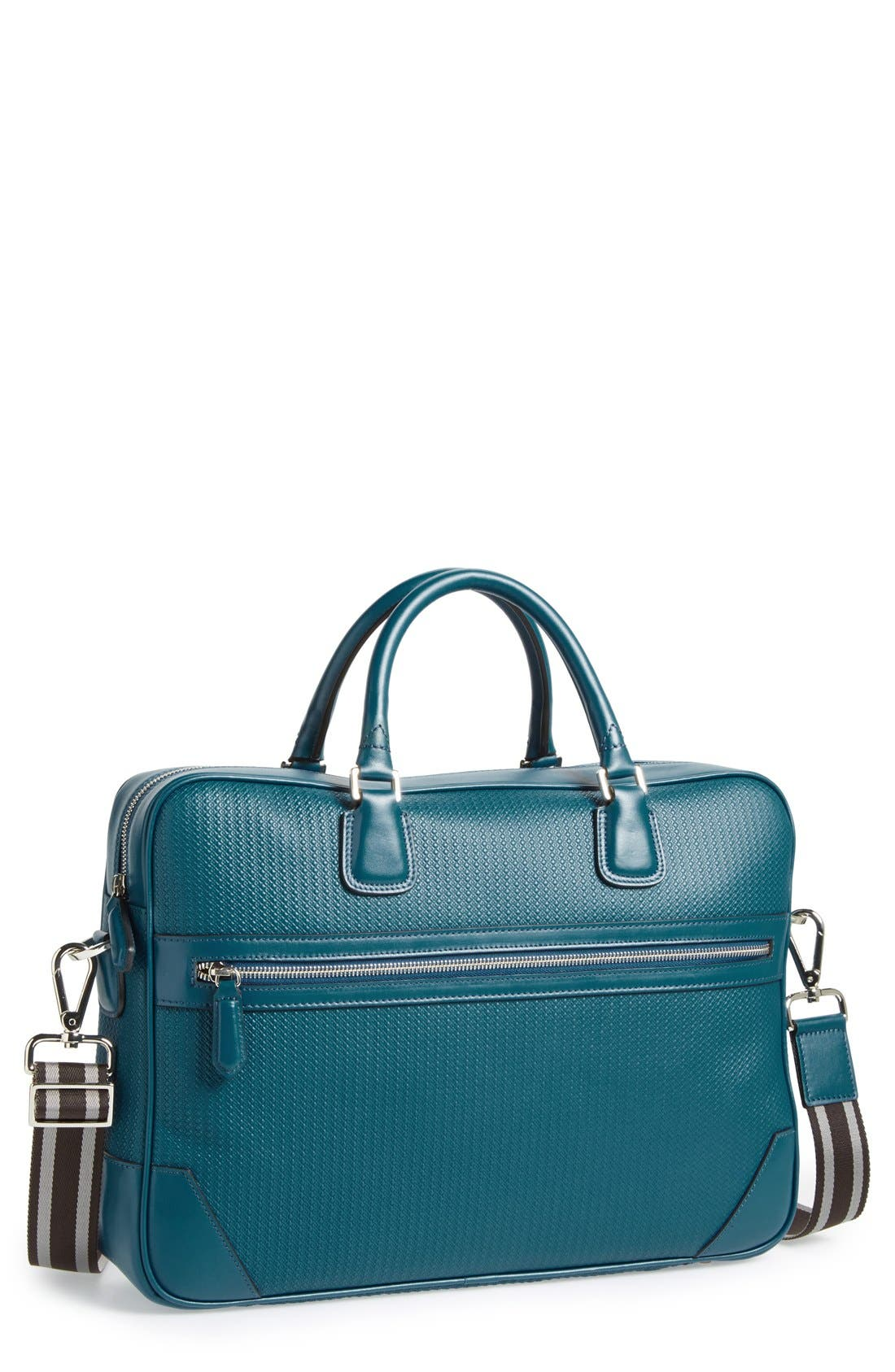Leather Briefcase, Main, color, 400