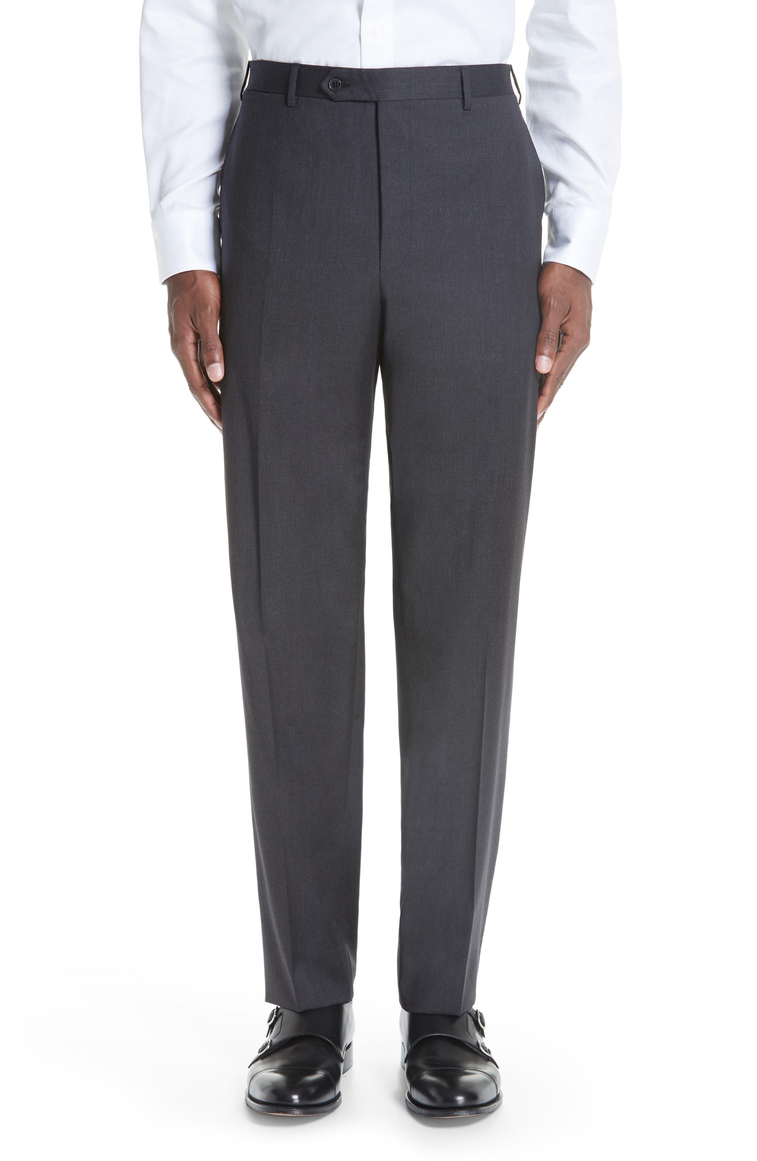 ,                             Classic Fit Wool Suit,                             Alternate thumbnail 6, color,                             CHARCOAL