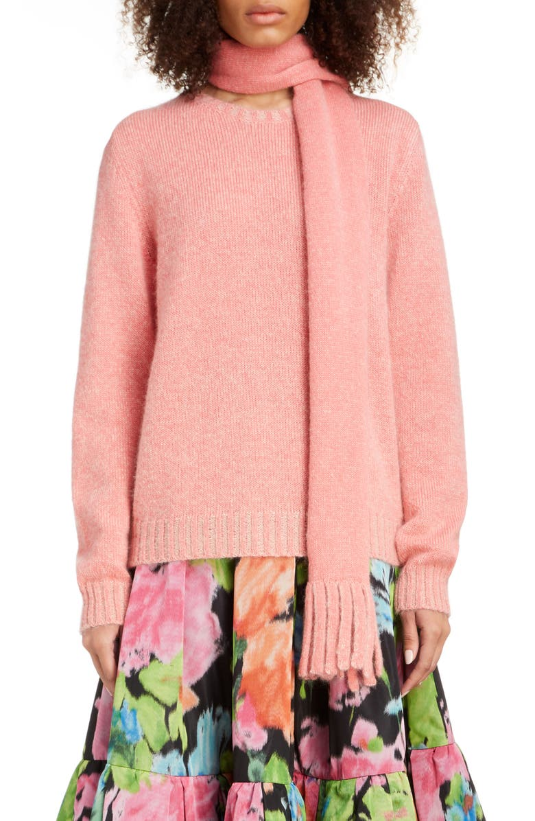 MARC JACOBS Scarf Neck Sweater, Main, color, PEACH