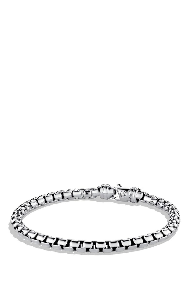 DAVID YURMAN Chain Large Link Box Chain Bracelet, Main, color, SILVER