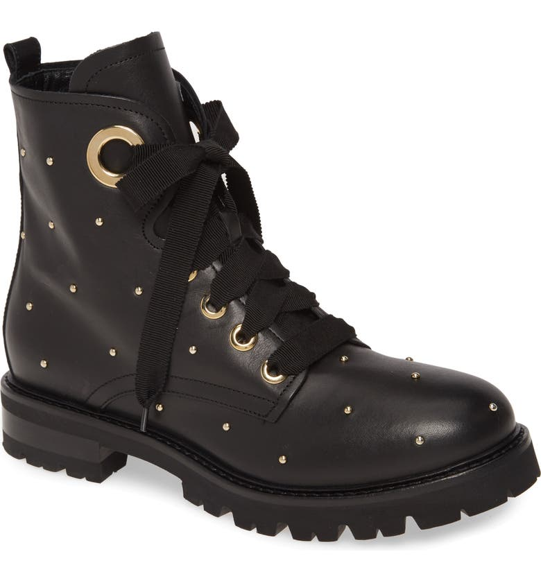 AGL Studded Combat Boot, Main, color, 001