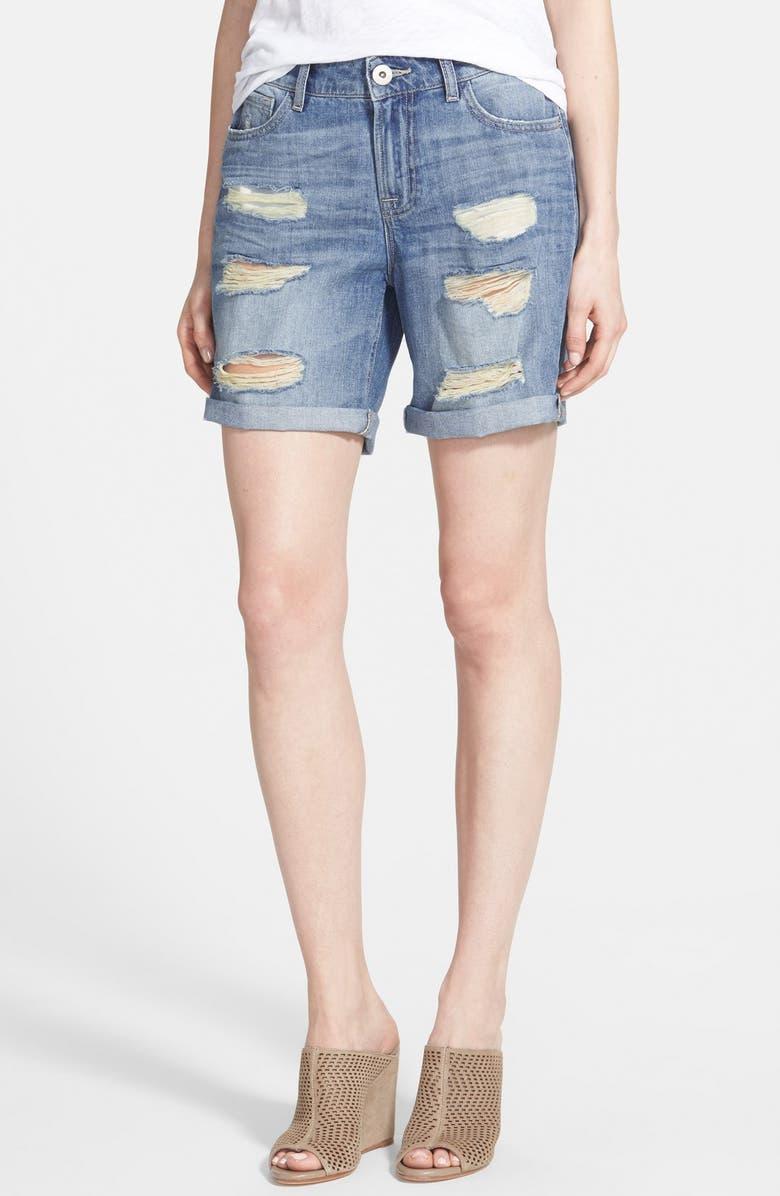 DL1961 'Corie' Slouchy Boyfriend Shorts, Main, color, 400