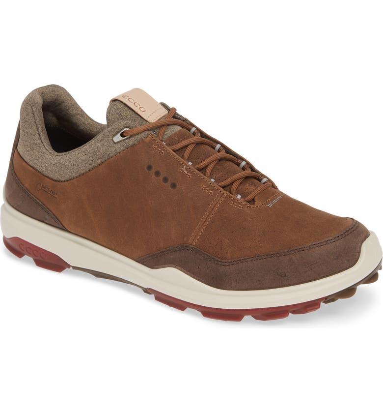ECCO BIOM Hybrid 3 Gore-Tex<sup>®</sup> Golf Shoe, Main, color, CAMEL LEATHER