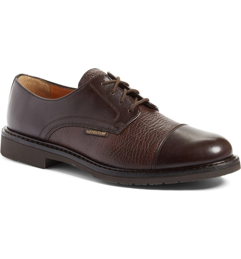 MEPHISTO 'Melchior' Cap Toe Derby, Main, color, DARK BROWN LEATHER