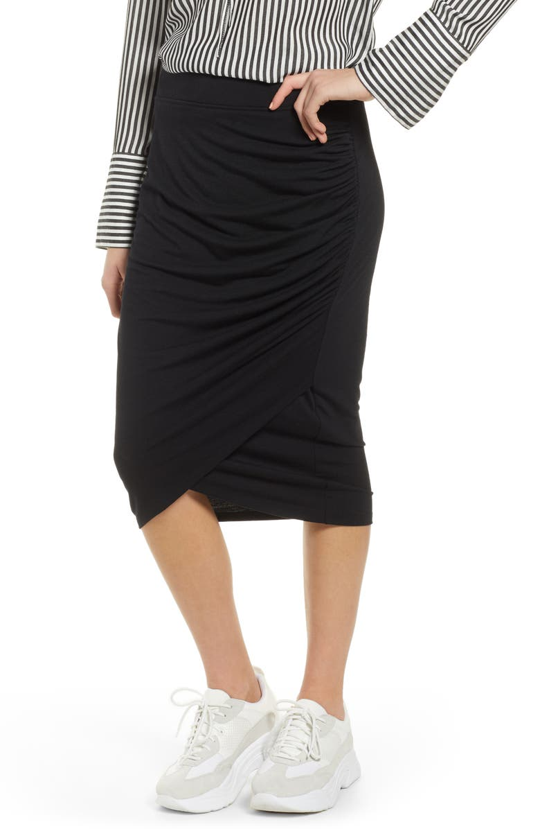 0469f8bb31 Shirred Side Midi Skirt