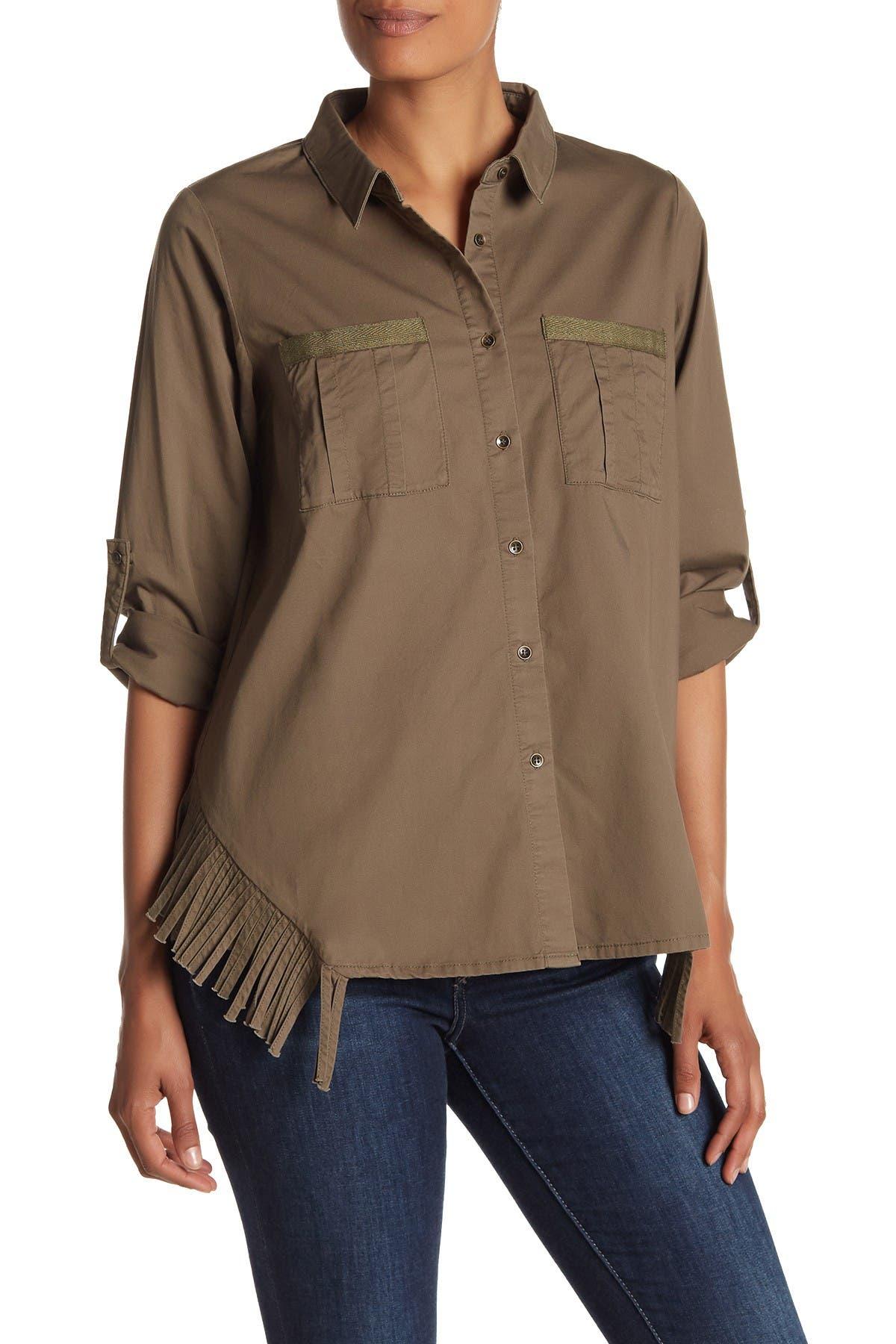 Image of Heartloom Callia Front Button Fringe Trim Jacket