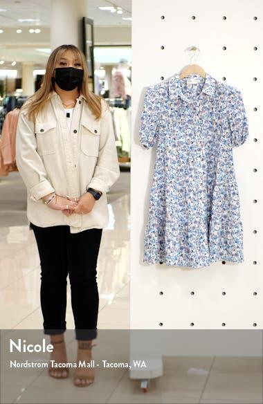 Floral Puff Sleeve Shirtdress, sales video thumbnail