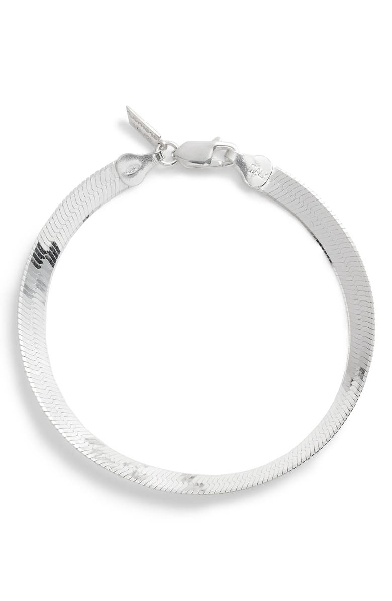LOREN STEWART Herringbone Chain Bracelet, Main, color, SILVER