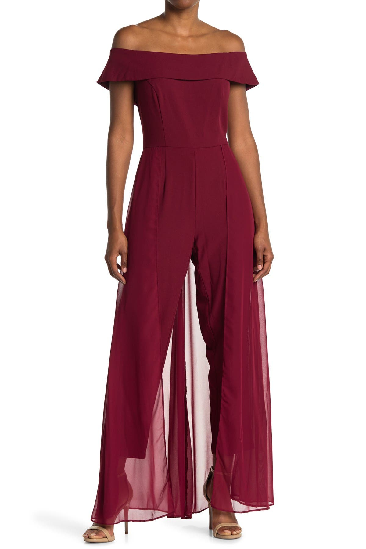 Image of Marina Solid Draped Jumpsuit
