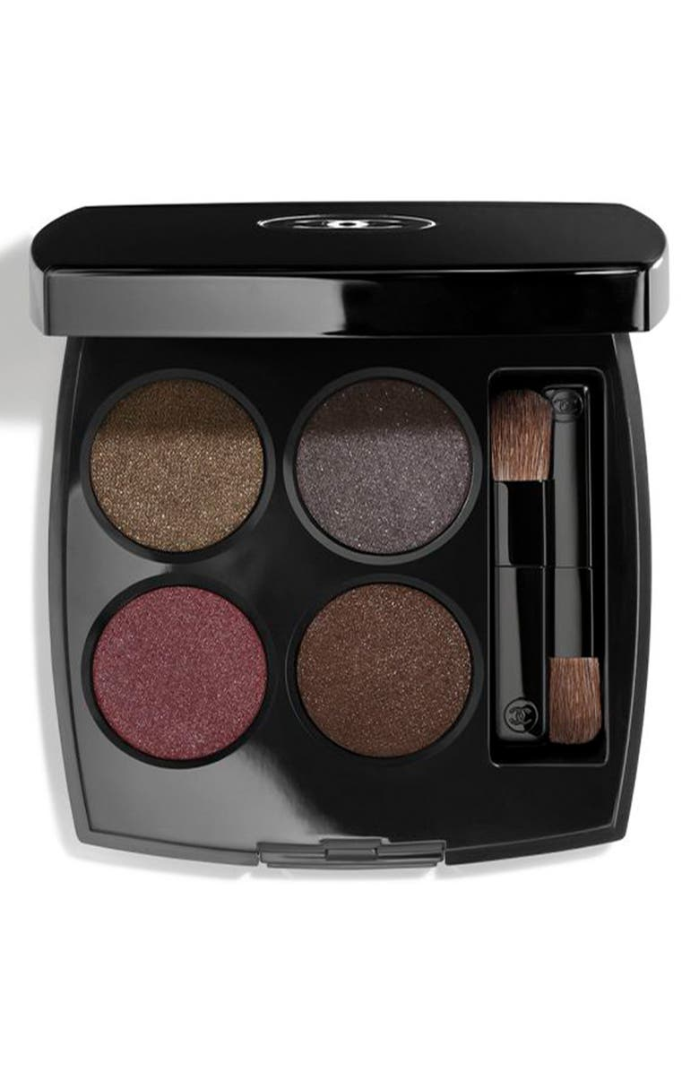 CHANEL LES 4 OMBRES <br />Multi-Effect Quadra Eyeshadow, Main, color, 332 NOIR SUPREME