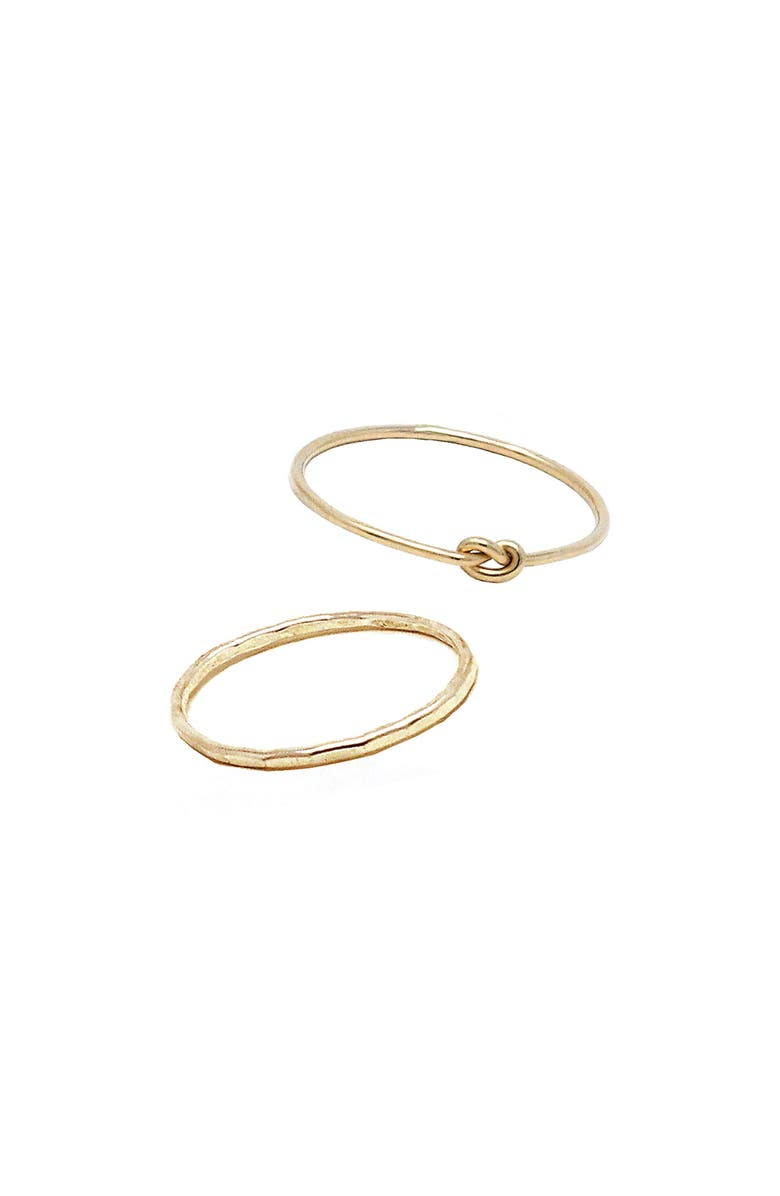 ABLE Forever Set of 2 Stacking Rings, Main, color, GOLD