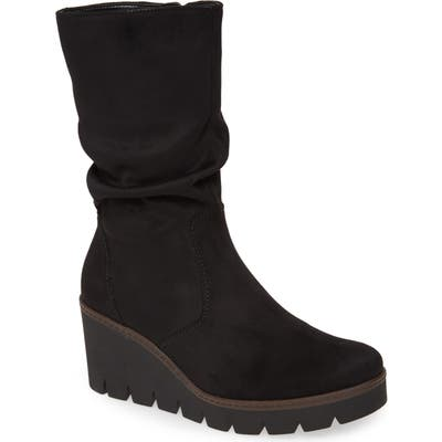 Gabor Wedge Boot, Black