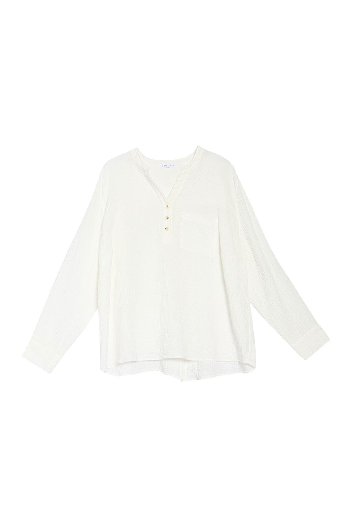 Image of Socialite Split Neck Long Sleeve Top