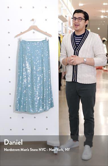 Abigail Sequin Midi Skirt, sales video thumbnail