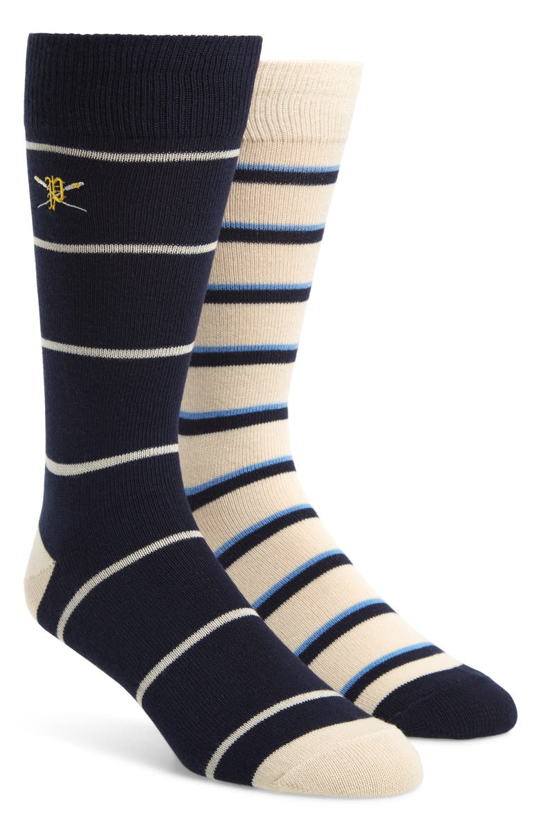 POLO RALPH LAUREN 2-Pack Cross Paddle Socks, Main, color, NAVY