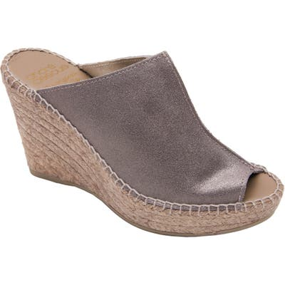 Andre Assous Cici Espadrille Wedge, Grey
