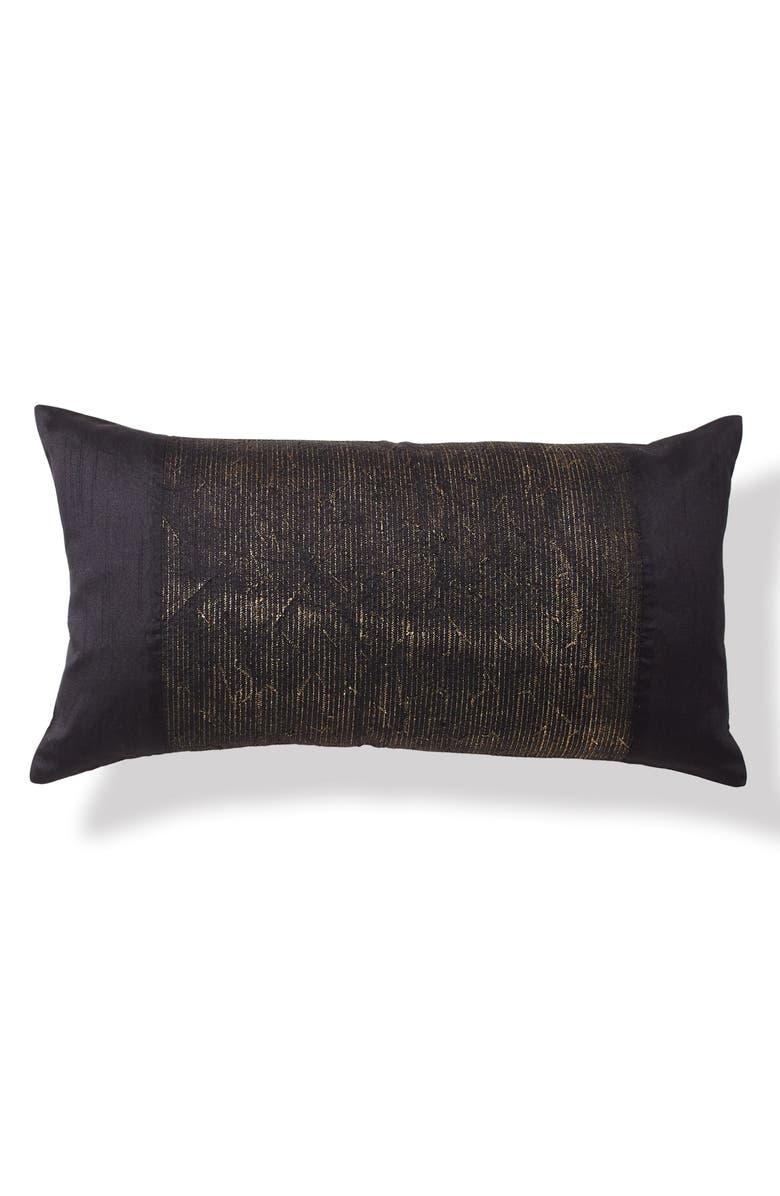 DONNA KARAN NEW YORK Onyx Metallic Embroidery Accent Pillow, Main, color, ONYX
