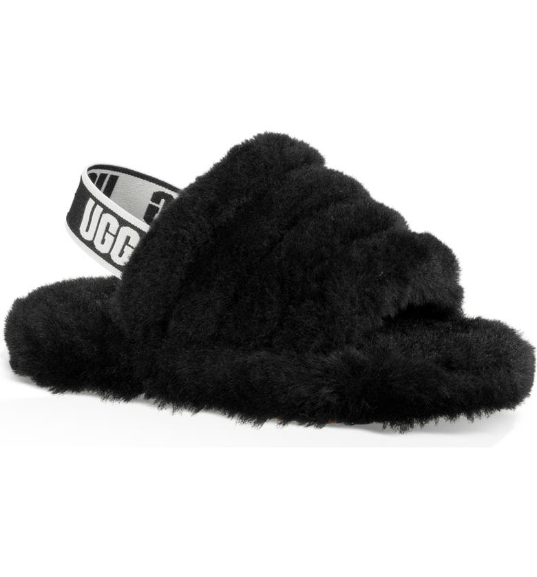 UGG<SUP>®</SUP> Fluff Yeah Slide Sandal, Main, color, BLACK