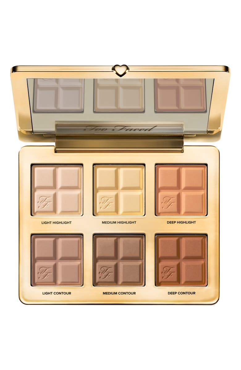 TOO FACED Cocoa Contour Contouring and Highlighting Palette, Main, color, 000