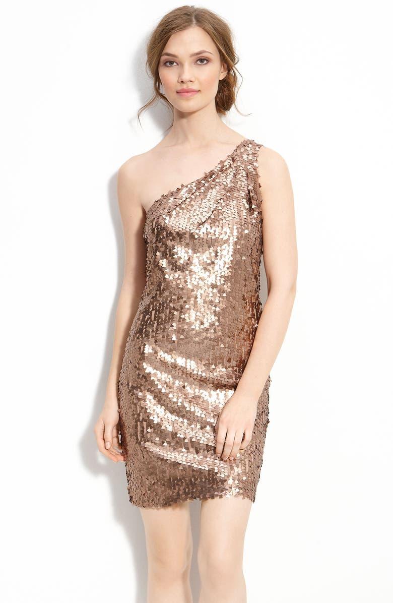 ALEXIA ADMOR One Shoulder Sequin Dress, Main, color, 220