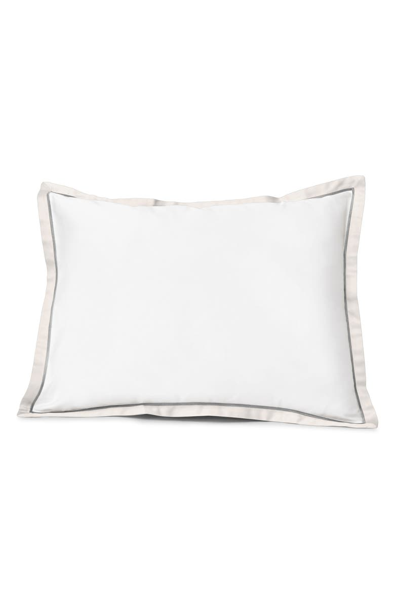 SIGNORIA FIRENZE Luna 600 Thread Count Sham, Main, color, WHITE/PEARL