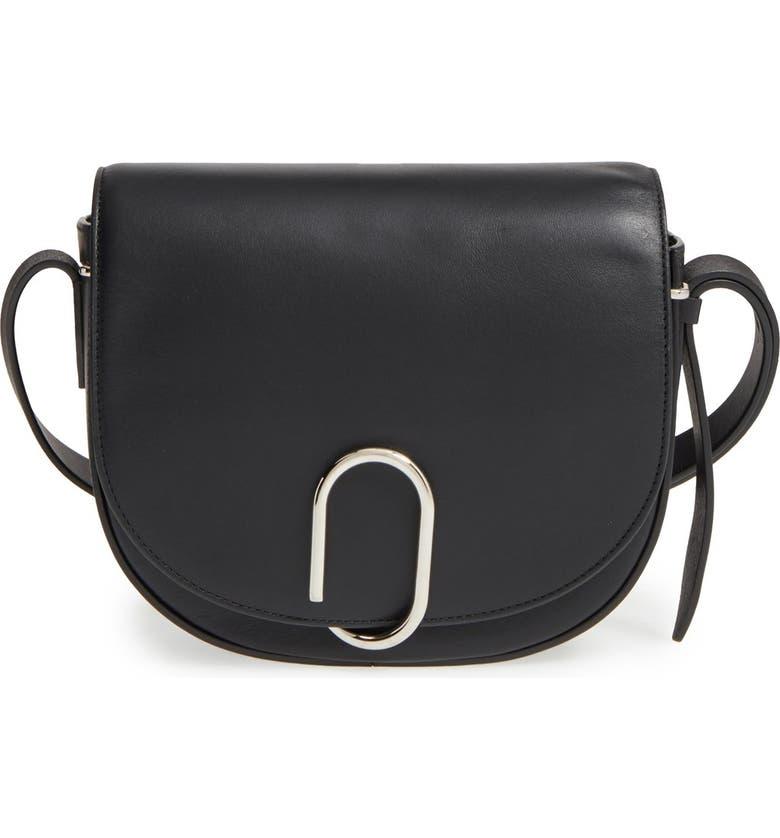 3.1 PHILLIP LIM Alix Leather Saddle Bag, Main, color, 001