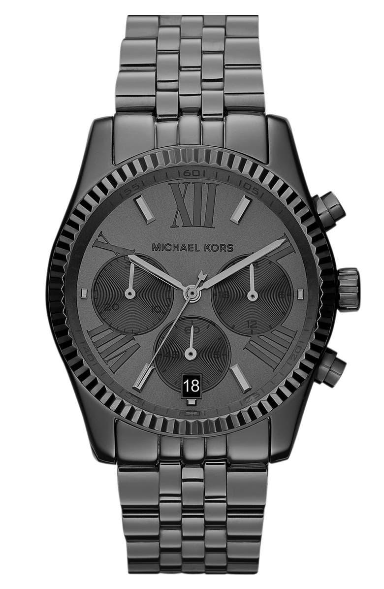 MICHAEL KORS 'Lexington' Chronograph Bracelet Watch, 38mm, Main, color, 020