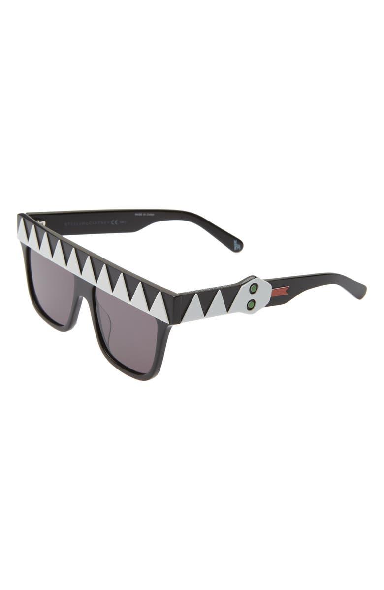 STELLA MCCARTNEY KIDS 50mm Square Sunglasses, Main, color, WHITE