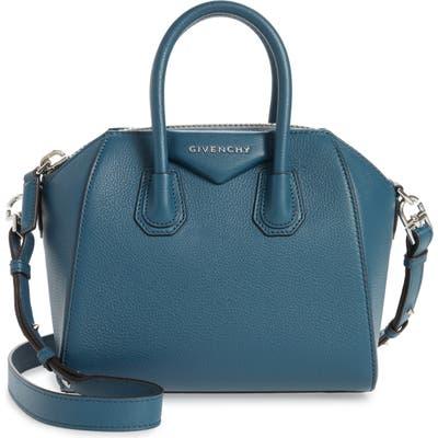 Givenchy Mini Antigona Sugar Leather Satchel - Blue