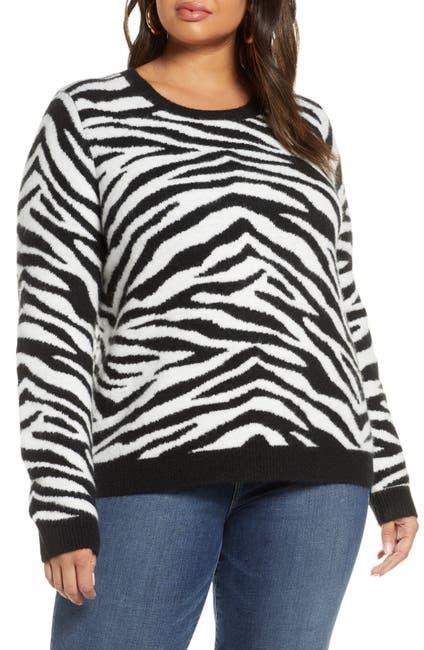 Image of Halogen Zebra Sweater