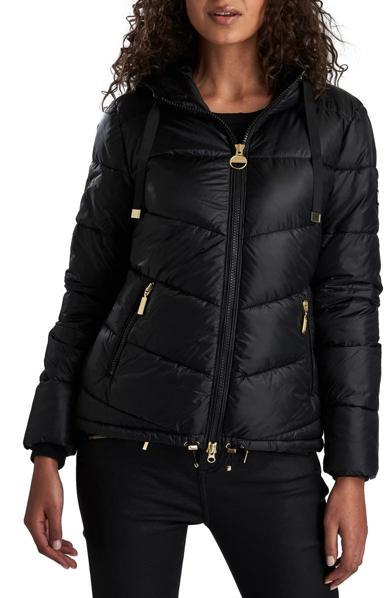 BARBOUR INTERNATIONAL Brace Quilted Puffer Jacket, Main, color, 001