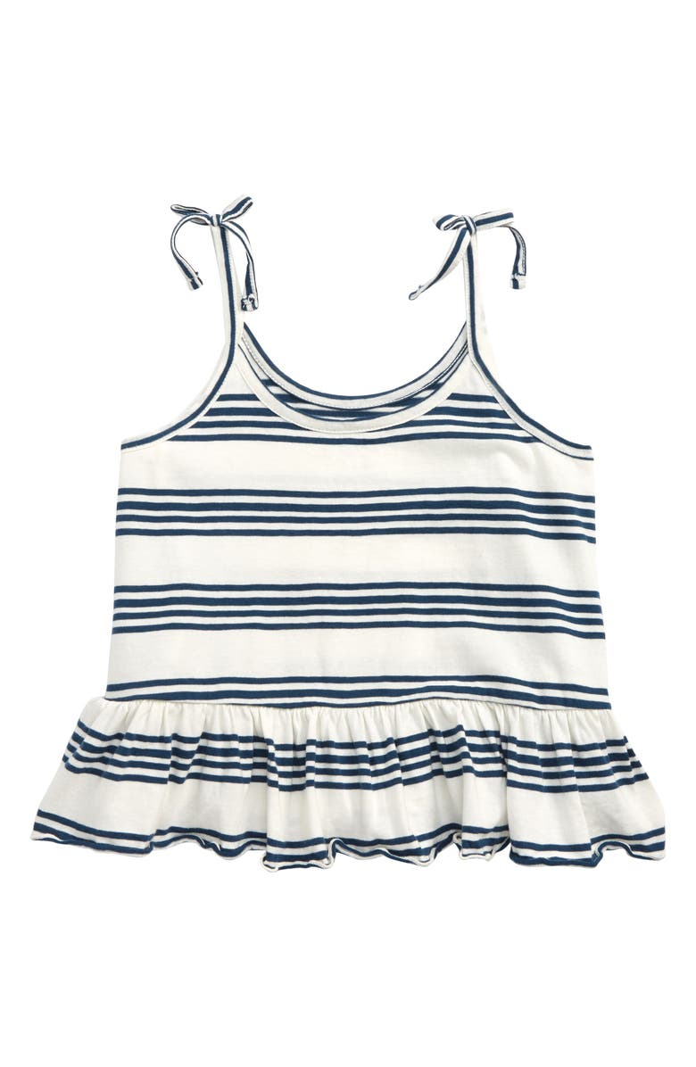 Treasure Bond Stripe Peplum Tank Big Girls