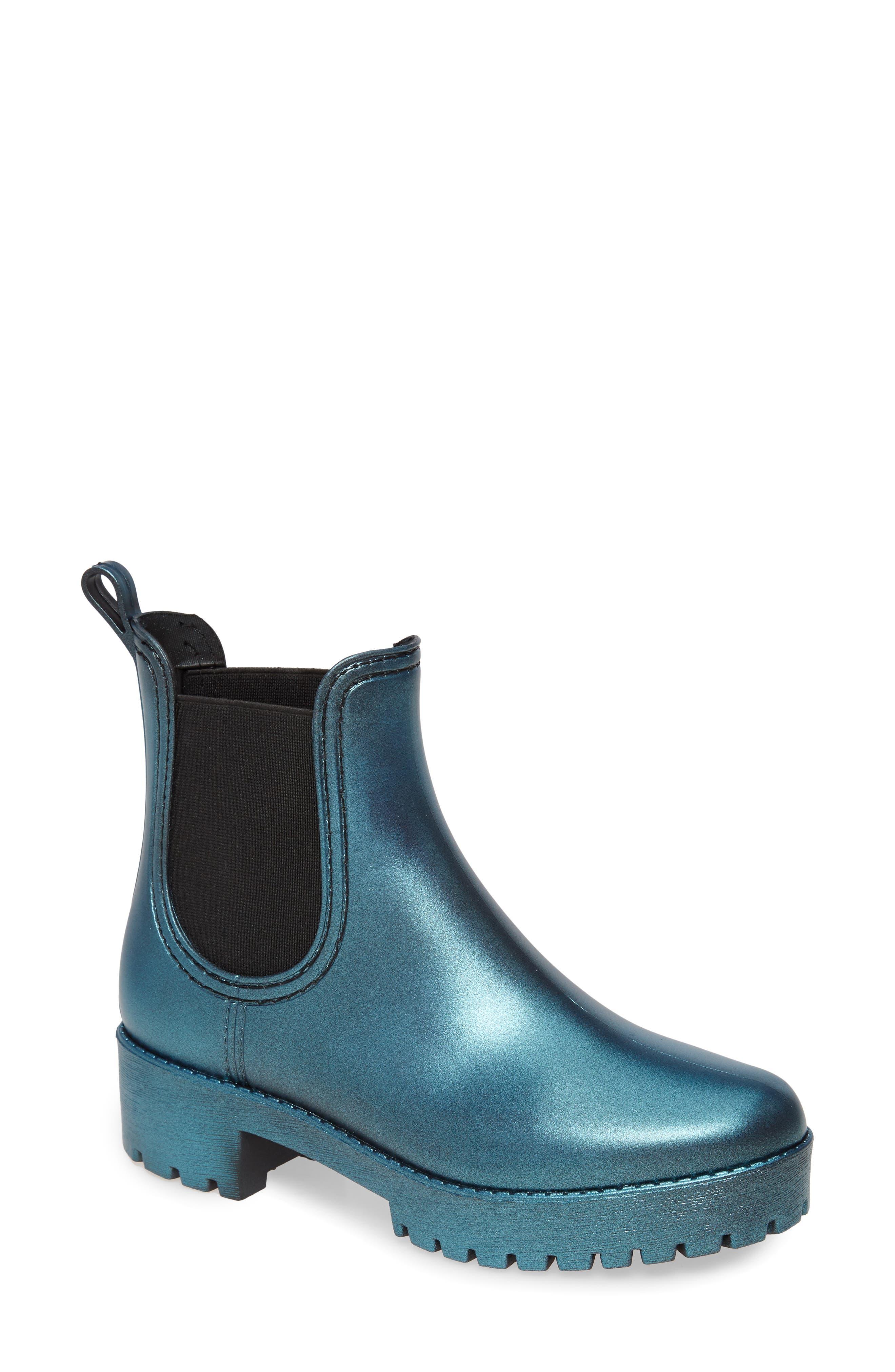 Jeffrey Campbell Cloudy Waterproof Chelsea Rain Boot (Women)