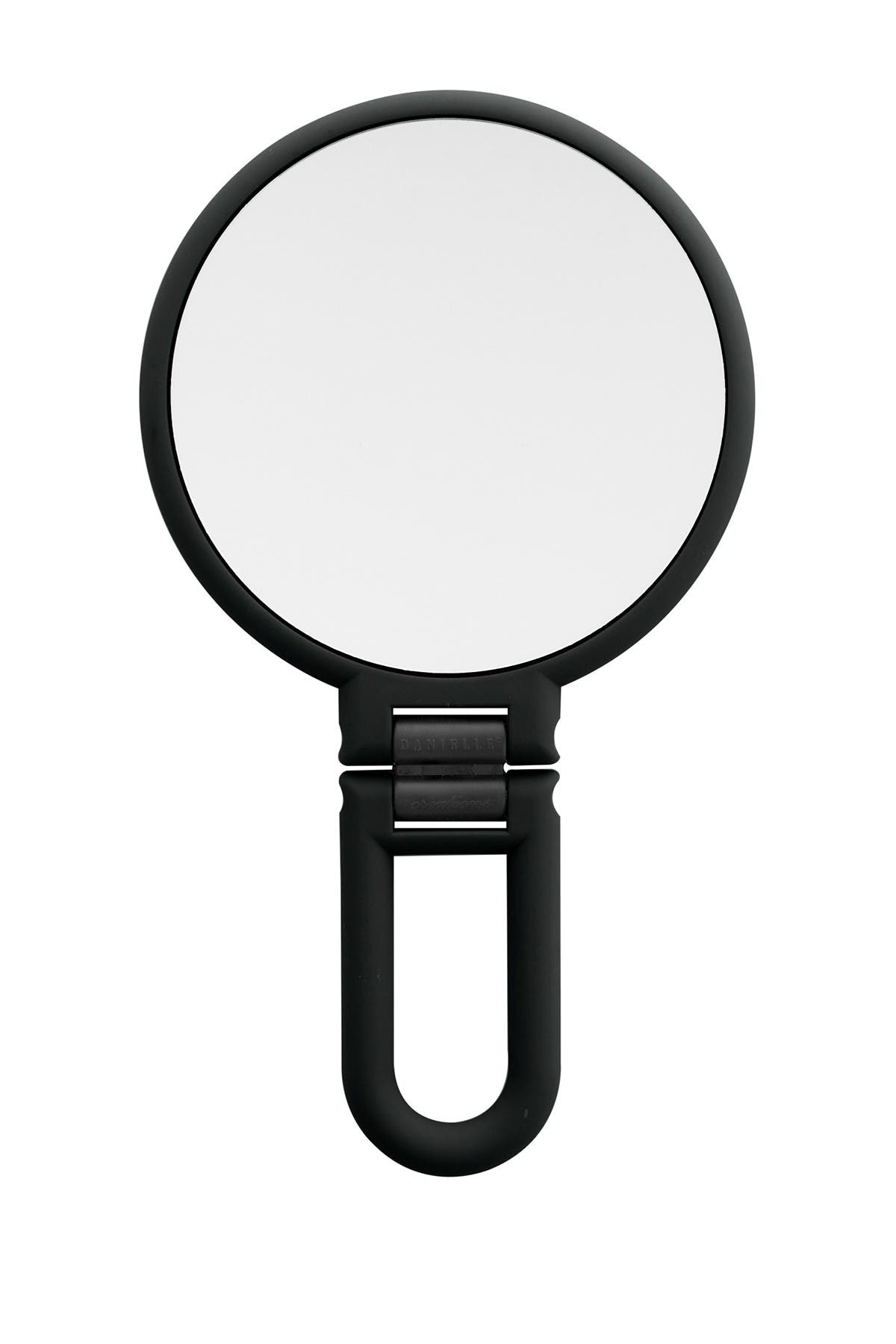 UPPER CANADA SOAPS Danielle Matte Hand Held Foldable Mirror - Black